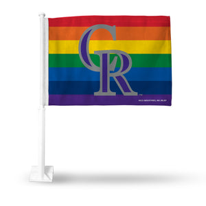ROCKIES PRIDE CAR FLAG