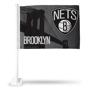 BROOKLYN NETS CAR FLAG