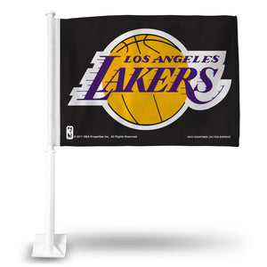 LOS ANGELES LAKERS BLACK CAR FLAG