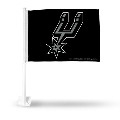 SPURS CAR FLAG WITH PRIMARY LOGO- SECONDARY DESIGN