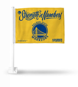 WARRIORS - STRENGTH IN NUMBERS - YELLOW CAR FLAG