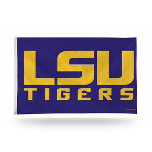 "LSU ""BLOCK LETTERS"" PURPLE BACK 3 X 5"