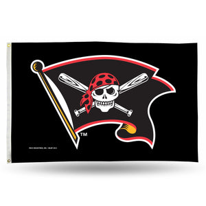 PITTSBURGH PIRATES JOLLY ROGER BANNER FLAG-COOPERSTOWN