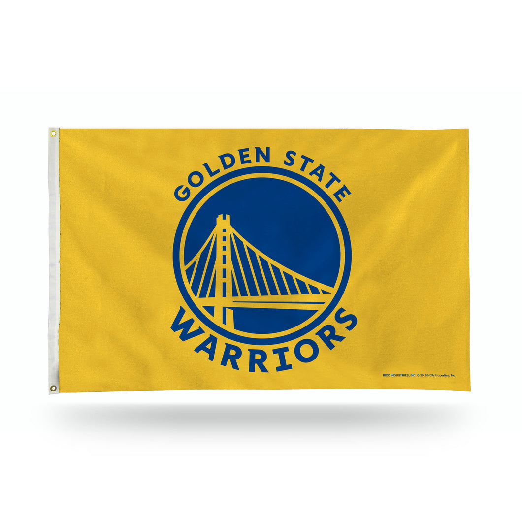 WARRIORS BANNER FLAG - YELLOW BACKGROUND