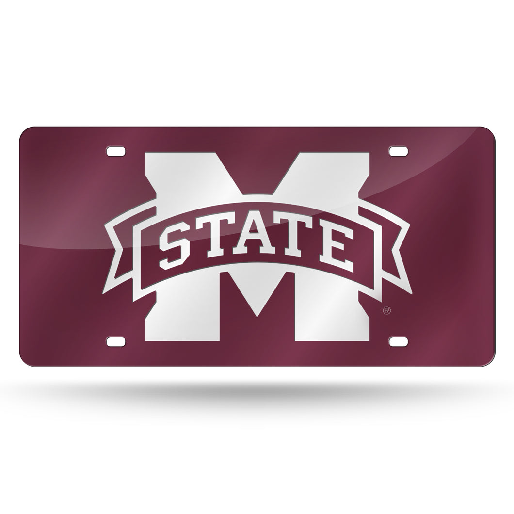MISSISSIPPI STATE LASER TAG - DARK RED