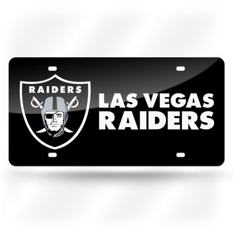 LAS VEGAS RAIDERS COLORED LASER CUT TAG (BLACK)