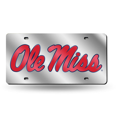 OLE MISS LASER TAG (SILVER)