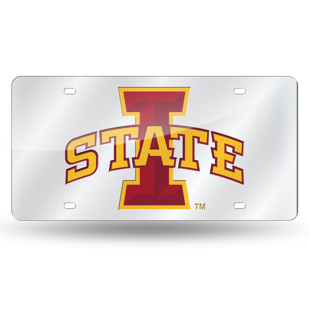 IOWA STATE LASER TAG (SILVER)