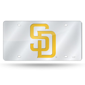PADRES SILVER LASER CUT TAG