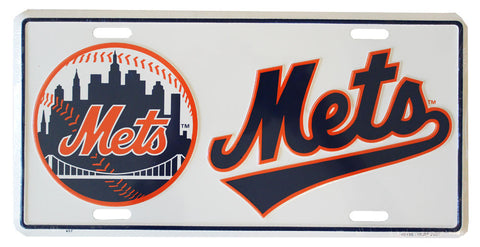 New York Mets MLB License Plate