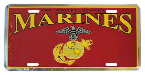 Marines License Plate (Chrome)