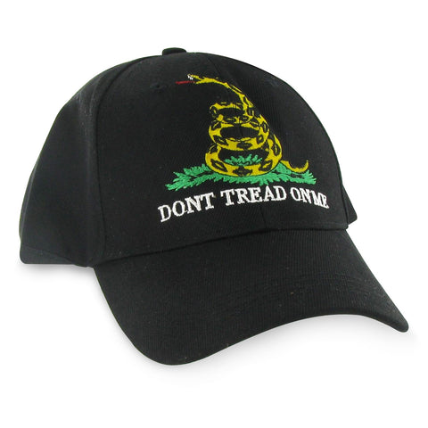 Gadsden Flag Cap - Black - Dont Tread On Me Hat