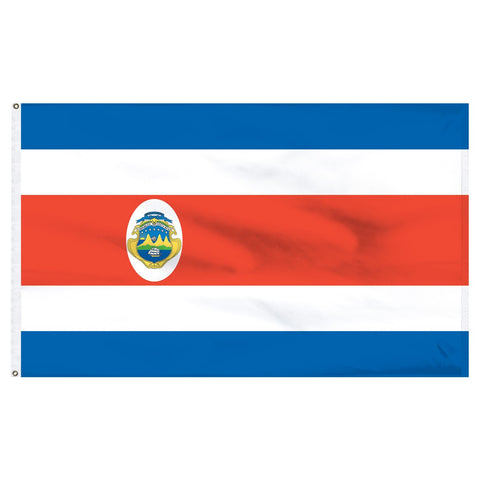 Costa Rica 3 x 5 Flag With Seal