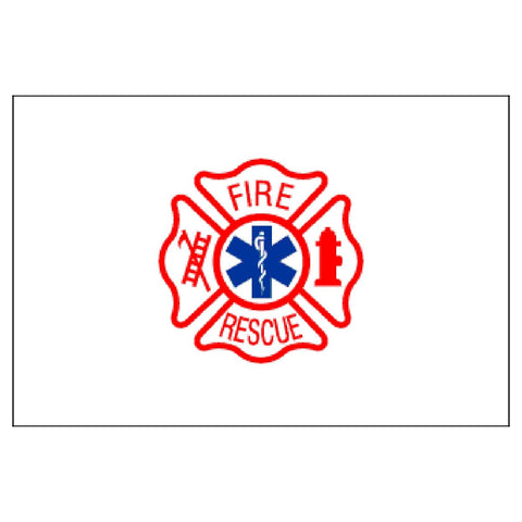 Fire Rescue Flag 3ft x 5ft Nylon