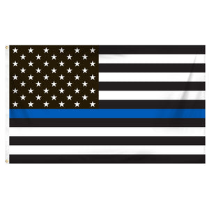 American 3 X 5 Flag (Thin Blue Line)