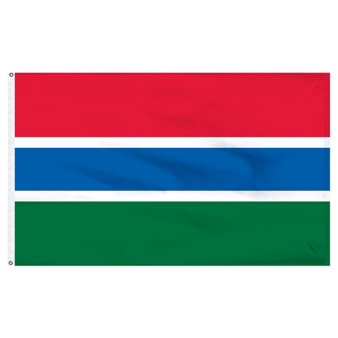 Gambia 3 x 5 Flag