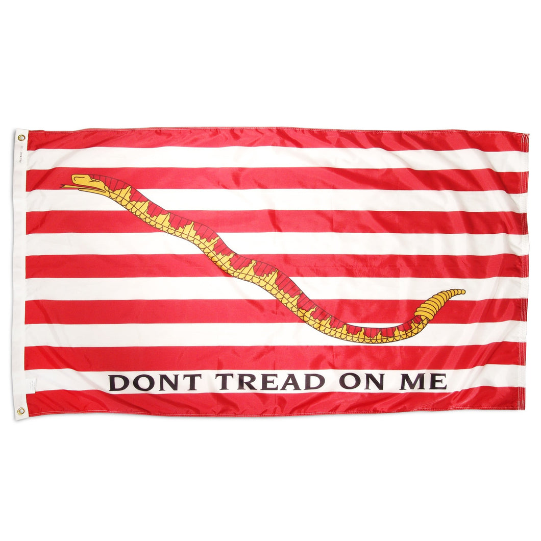1st Navy Jack 3 x 5 Flag (Don't tread on me flag)