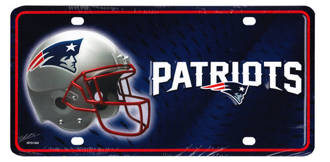 New England Patriots NFL License Plate
