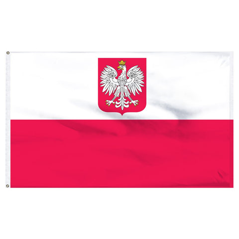 Poland 3 x 5 Flag and Civil Ensign