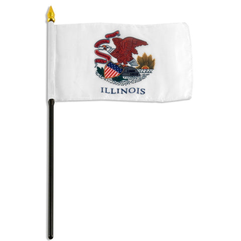 Illinois 4 x 6 Flag