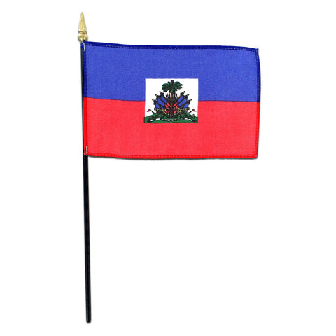 Haiti 4x6 Flag - With Seal