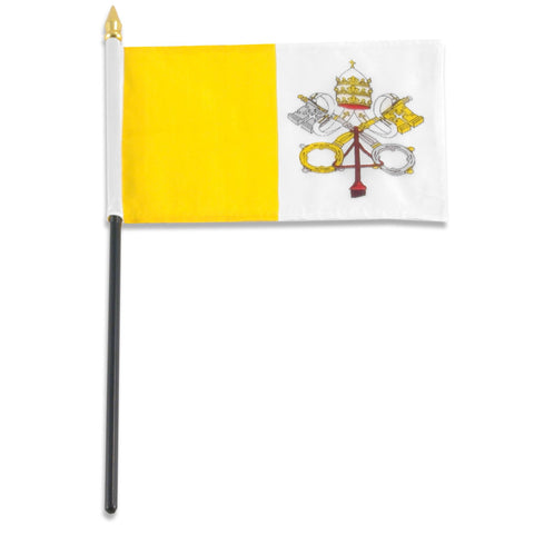 Vatican City 4 x 6 Flag