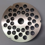 "#32 x 3/8"" Hubbed Meat Grinding Plate - L. Stocker and Sons - 2"