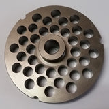 "#32 x 3/8"" Hubbed Meat Grinding Plate - L. Stocker and Sons - 3"