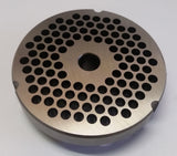 "#32 x 1/4"" Hubbed Meat Grinding Plate - L. Stocker and Sons - 2"