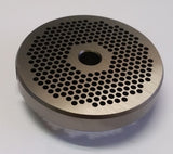 "#22 x 1/8"" Hubbed Meat Grinding Plate - L. Stocker and Sons - 2"