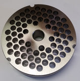 "#52 x 3/8"" Hubbed Meat Grinding Plate - L. Stocker and Sons - 2"