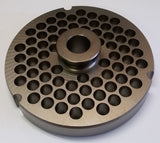 "#52 x 3/8"" Hubbed Meat Grinding Plate - L. Stocker and Sons - 1"