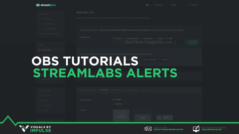 OBS Turorial StreamLabs Alerts