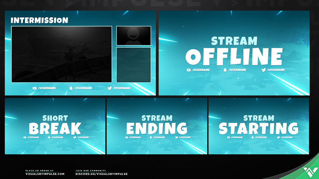Blizzard Animated Stream Package - Visuals by Impulse