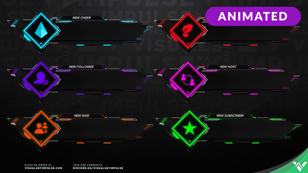 Nanotech Animated Stream Alerts - Visuals by Impulse