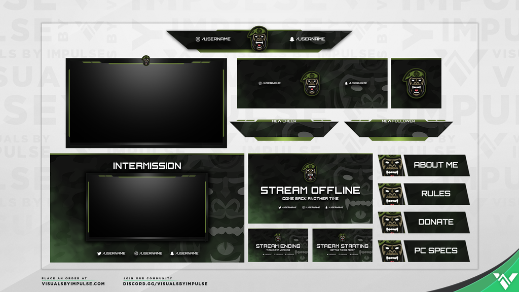 Gorilla Warfare Diamond Stream Package - Visuals by Impulse