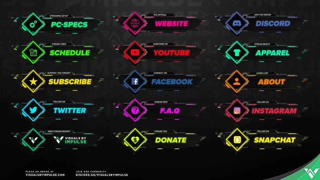 Nanotech Twitch Panels - Visuals by Impulse