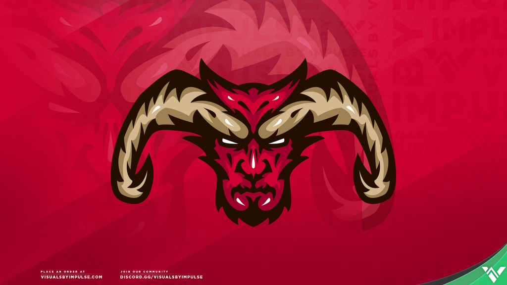 Feral Satyr Mascot Logo - Visuals by Impulse