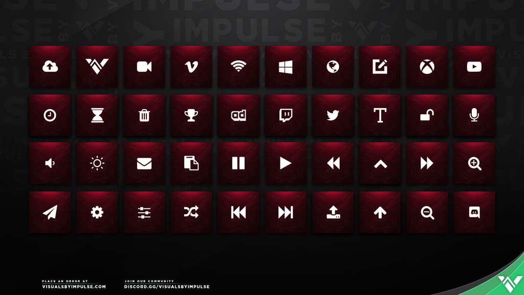 Red Skull Stream Deck Icons