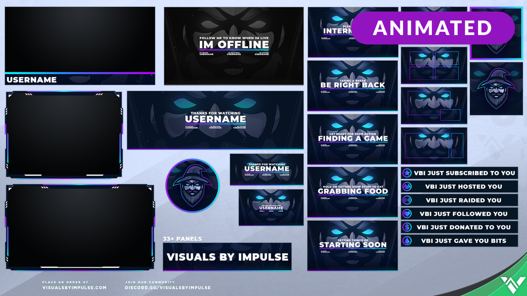Mana Animated Stream Package - Visuals by Impulse