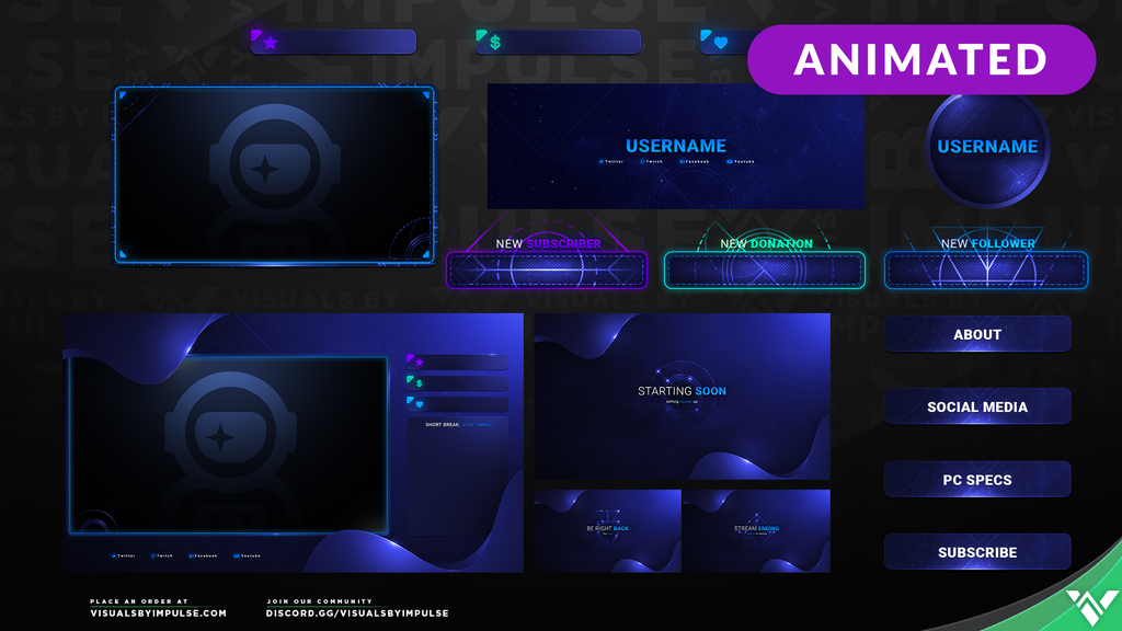 Dark Matter Stream Package - Visuals by Impulse