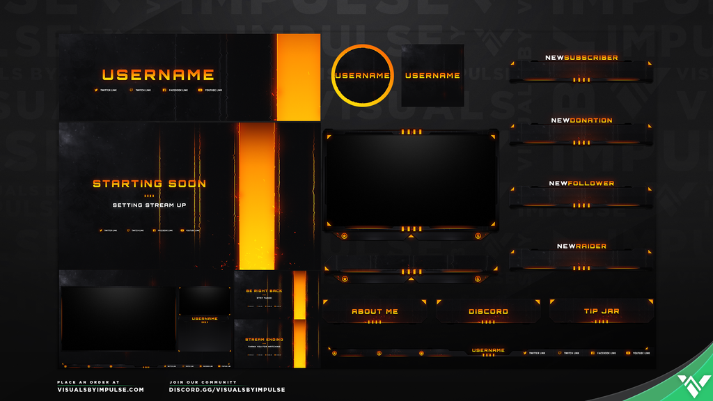Blackout Stream Package - Visuals by Impulse