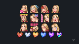 Cute Girl Emotes & Badges