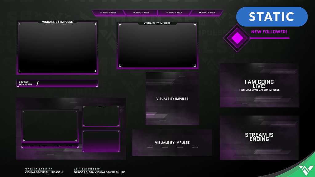 Champion Animated Stream Package - Visuals by Impulse