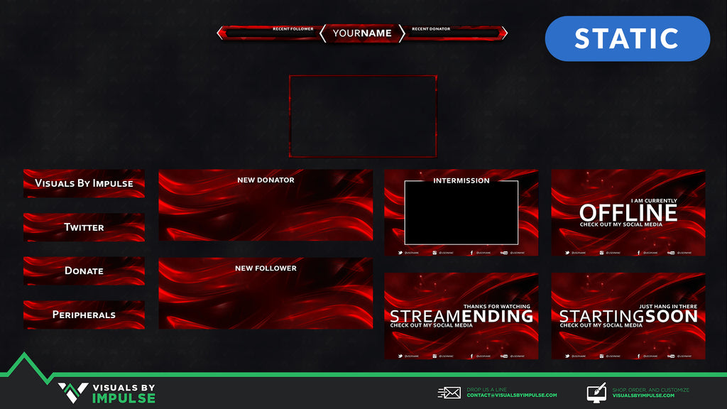 Streamer's Essentials Kit - Red Crystal - Visuals by Impulse