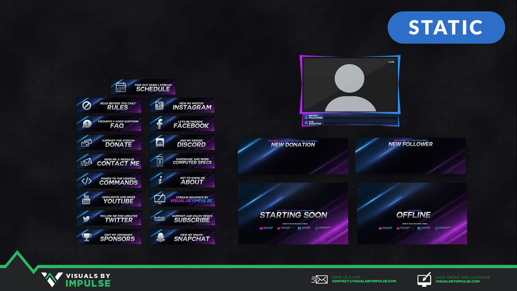 Fade Stream Package - Visuals by Impulse