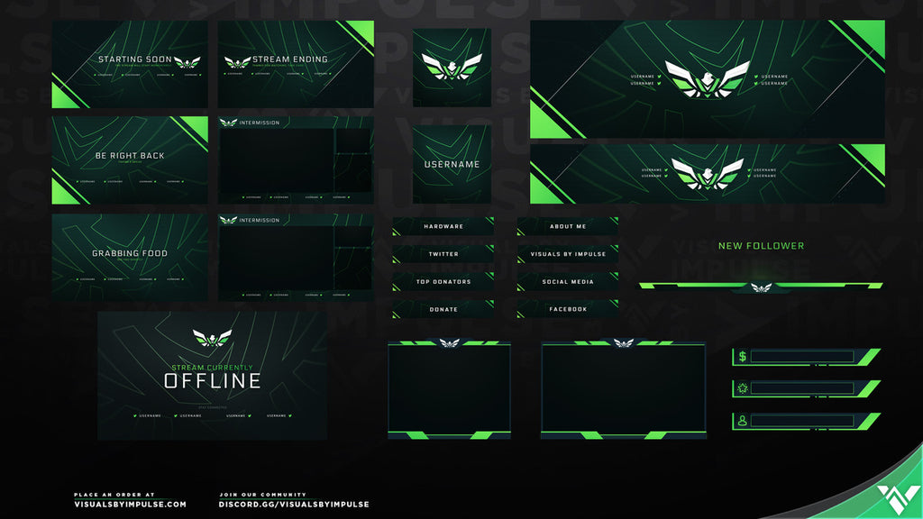 Falcon Stream Package - Visuals by Impulse