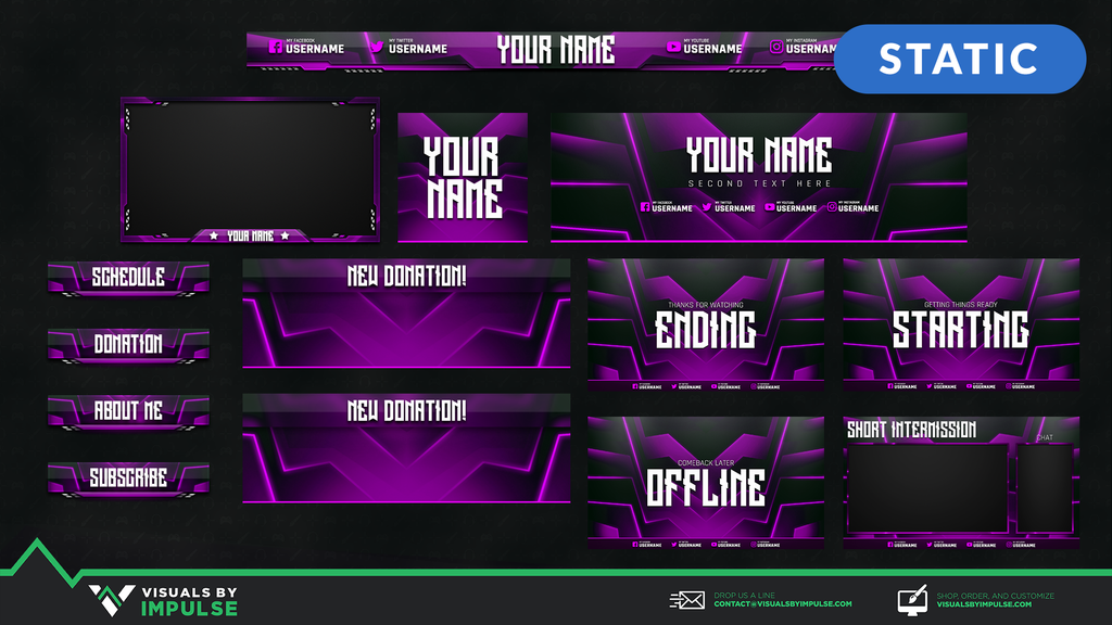Fulltime Stream Package - Visuals by Impulse