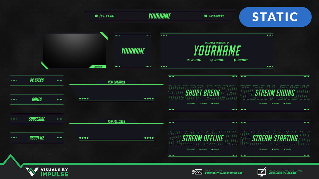 Vibrant Green Stream Package