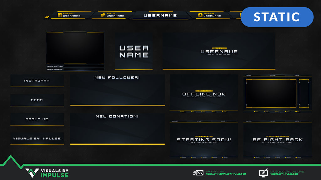 Headshot Stream Package - Visuals by Impulse